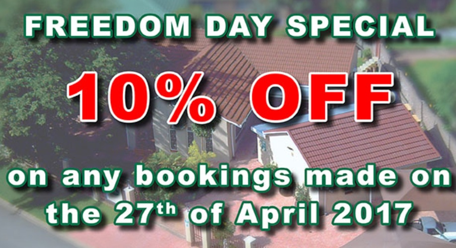 Freedom Day Special Accommodation Nelspruit